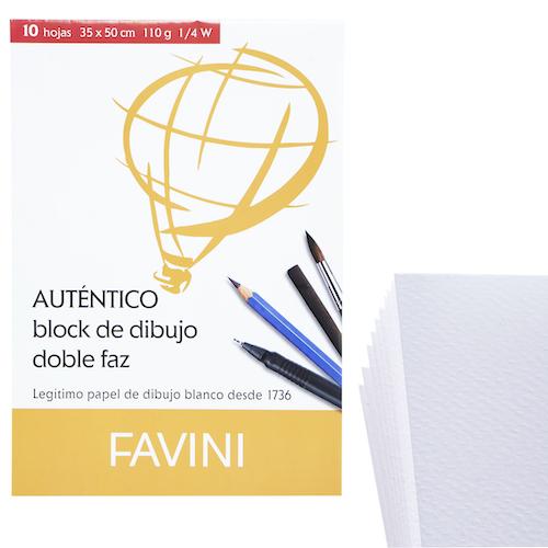 BLOC DE DIBUJO FAVINI 1/4W 110GR.
