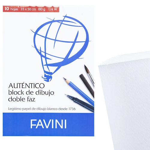 BLOC DE DIBUJO FAVINI 1/4W 180GRS.