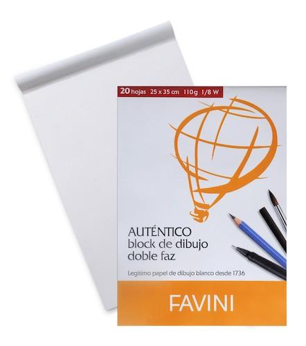 BLOC DE DIBUJO FAVINI 1/8W, 110GRS.