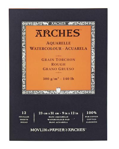 BLOC ARCHES AQUARELLE, 23x31CMS., 300GRS., 12H., GRANO GRUESO