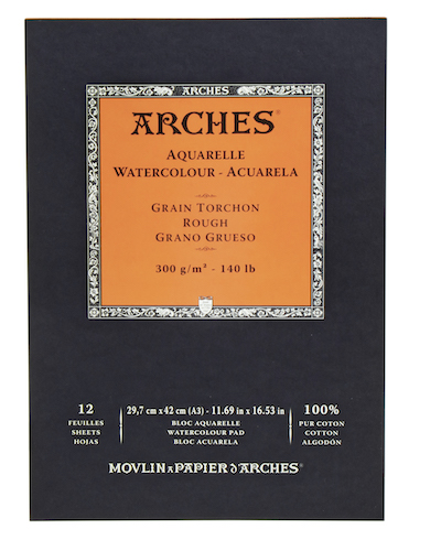 BLOC ARCHES AQUARELLE, 29,7x42CMS., 300GRS., 12H., GRANO GRUESO