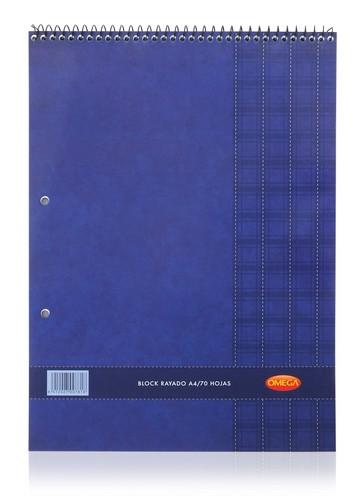 BLOC OMEGA CON ESPIRAL, A4, 70 HOJAS
