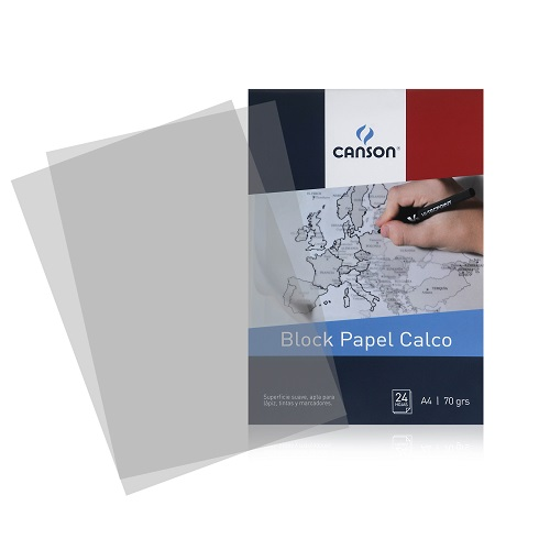 BLOC CALCO CANSON 70 GRS. A4, 24 HOJAS
