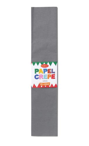 PAQUETE C/10 PLIEGOS DE PAPEL CREPÉ OMEGA.50x200cm GRIS-703