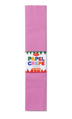 PAQUETE C/10 PLIEGOS DE PAPEL CREPÉ OMEGA.50x200cm. ROSADO-11