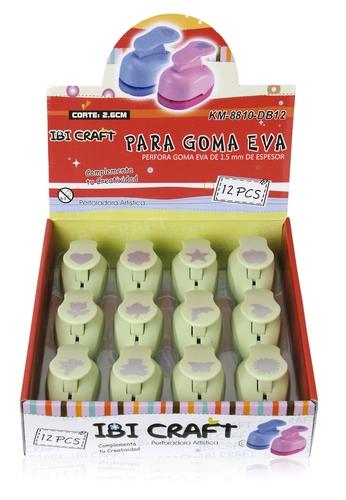 EXHIBIDOR CON 12 PERFORADORAS DE 25 MM  PARA GOMA EVA