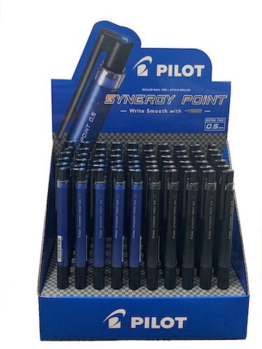 EXHIBIDOR PILOT CON 60 LAPICERAS SYNERGY POINT 0.5 MM